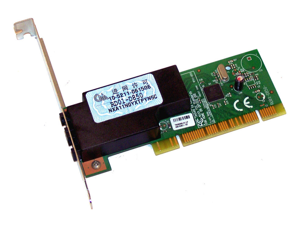 Dell YH741 PCI Conexant RD01-D850  56K Modem Card  Standard Profile Bracket Thumbnail 1