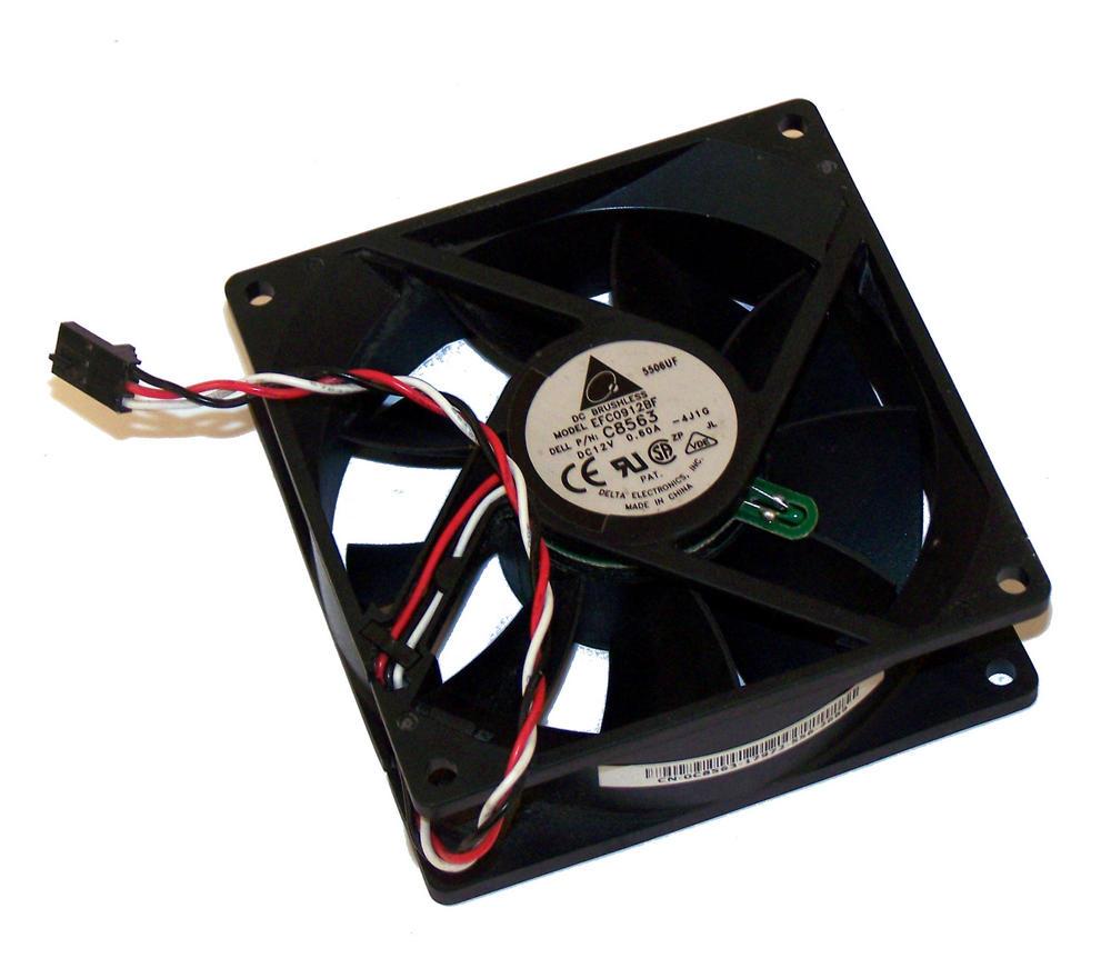 Dell C8563 Dimension 9100 Front Case Fan 12VDC 0.60A Fan Delta EFC0912BF 0C8563 Thumbnail 1