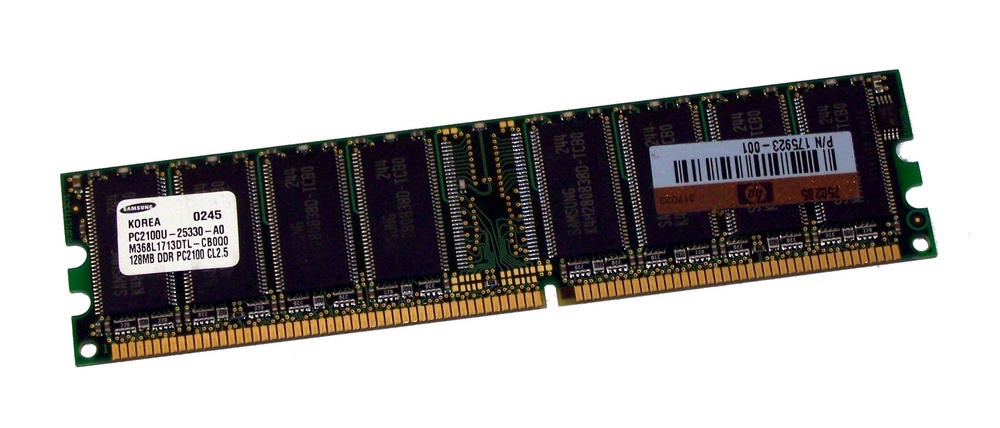 HP 175923-001 (128MB DDR PC2100U 266MHz DIMM 184-pin) Memory |M368L1713DTL-CB0Q0