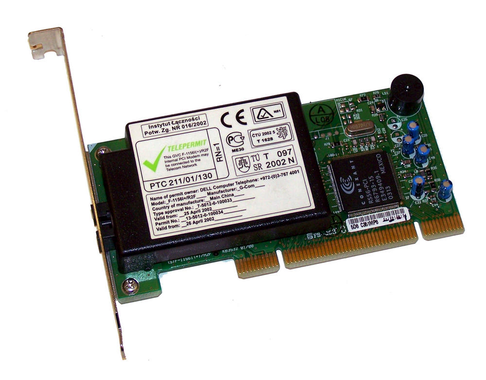 Dell 1K638 Dimension E521 PCI Conexant RS56 56K Modem Card  | 01K638 Thumbnail 1