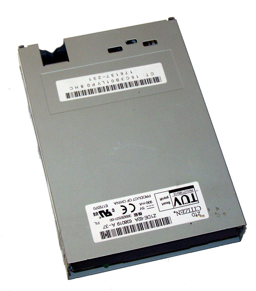 HP 176137-231 1.44MB Floppy Drive With No Bezel Citizen Z1DE-62A SPS 333505-001