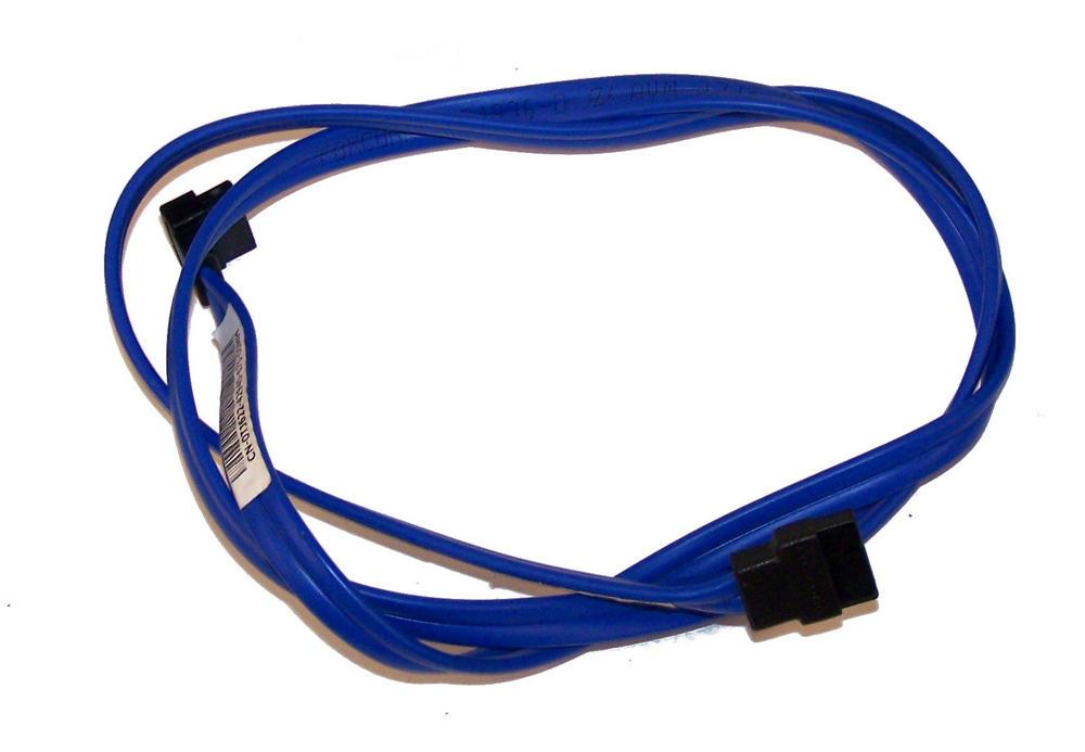 Dell TJ622 Blue 82cm SATA Straight to Angled Cable   0TJ622 Thumbnail 1