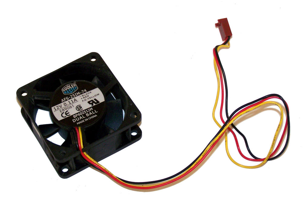 CoolerMaster AF6-25IM-74 60mm x 25mm 12VDC 0.11A 3-Wire Fan 30cm with 3-pin 2510 Thumbnail 1