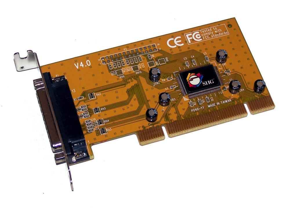 SIIG LP-P01011 V4.0 PCI DB25 Serial Card | Low Profile Bracket