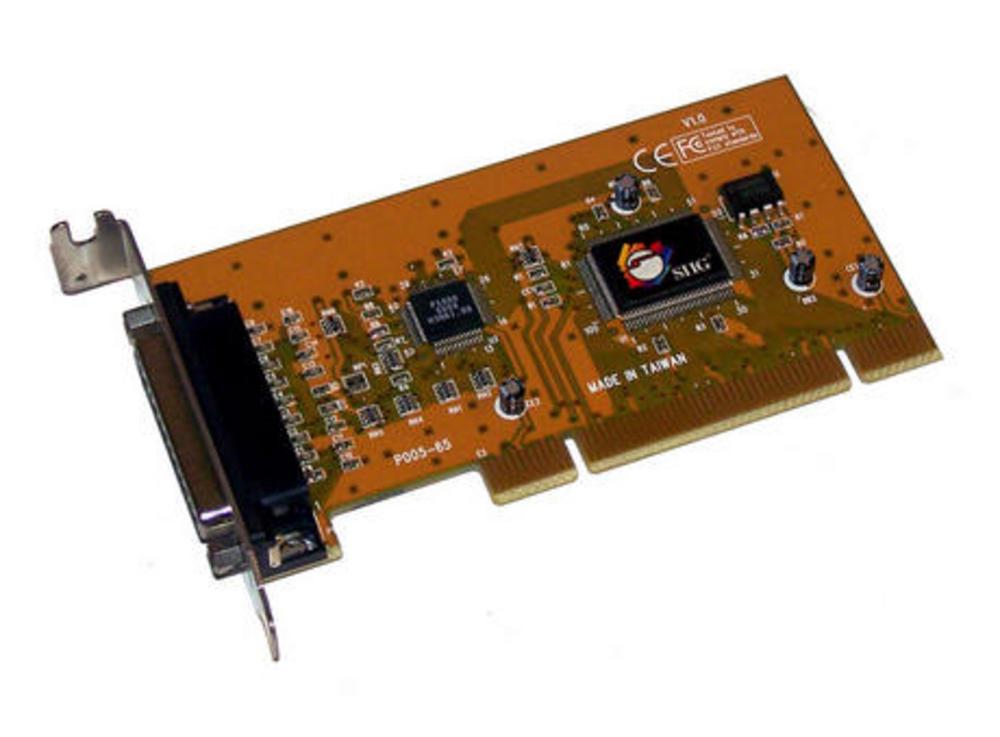 SIIG LP-P01011 V1.0 PCI DB25 Serial Card | Low Profile Bracket