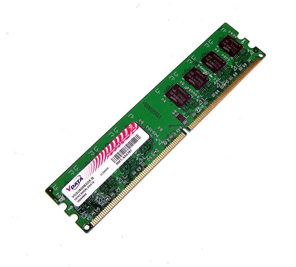 Vdata VD2U800B2G6-B (2GB DDR2 PC2-6400U 800MHz DIMM 240-pin) Memory Module