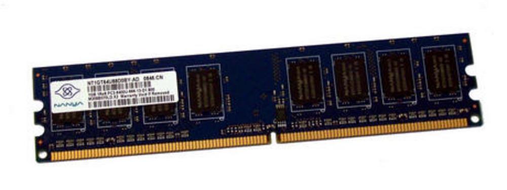 HP 404574-888 (1GB DDR2 PC2-6400U 800MHz DIMM 240-pin) NT1GT64U88D0BY-AD Memory