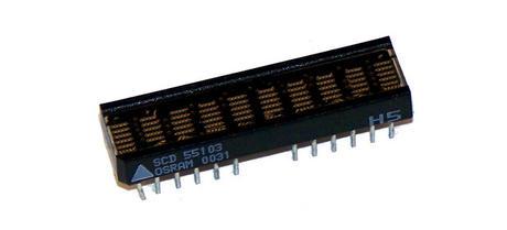 Osram SCD55103 Green 10-Character 5x5 3.68mm Dot Matrix Display IC
