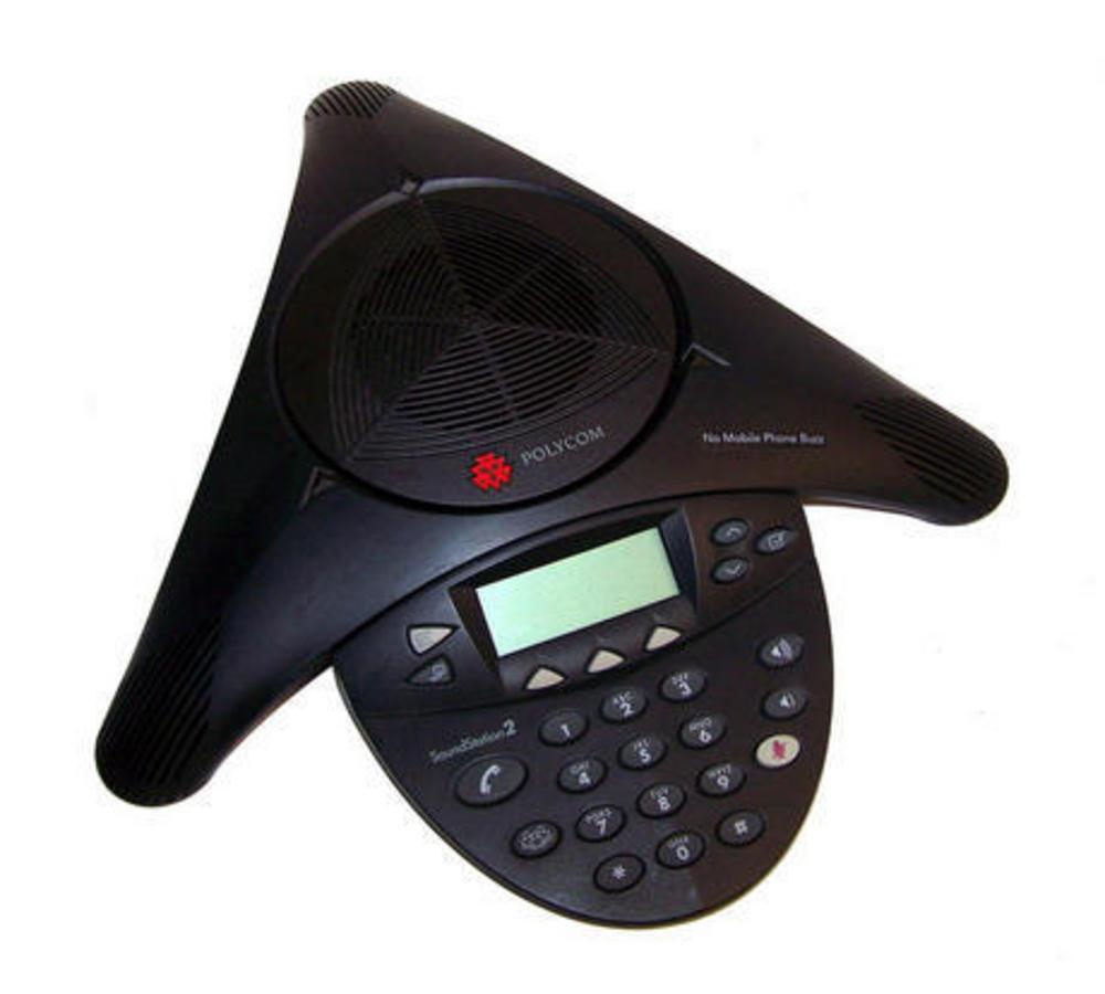 Polycom 2201-16200-601N SoundStation 2 Conference Phone | No AC Adapter