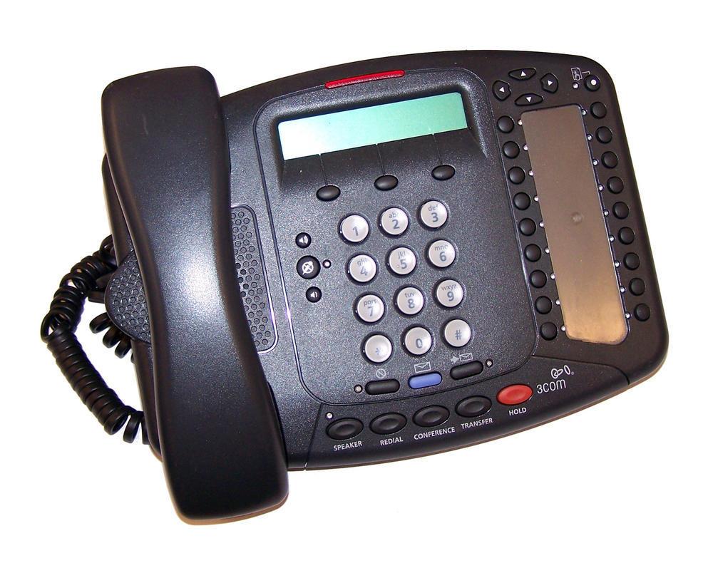 3Com 3C10402B 3102 Desktop Charcoal VoIP Telephone | No AC Adapter