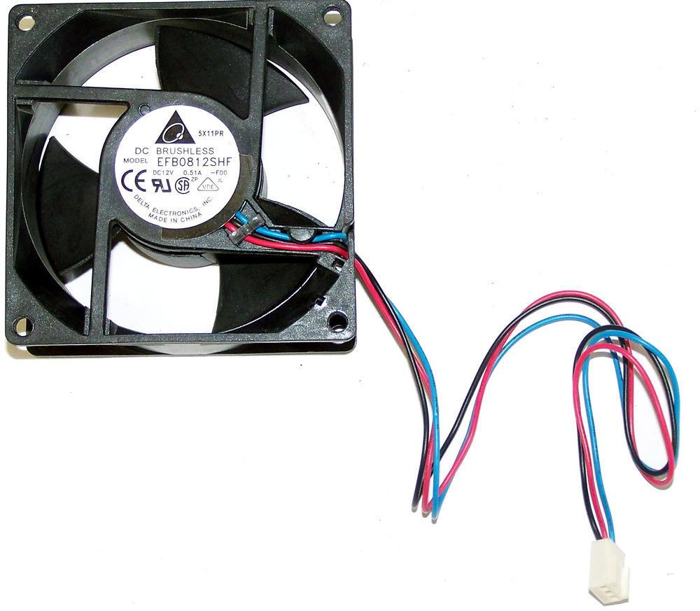 Delta EFB0812SHF-F00 12VDC 0.51A 80mm X 32mm 3-Pin Fan Connector for Avid MEDIAr