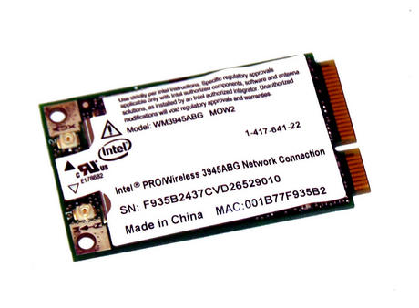 Sony 1-417-641-22 Vaio PCG-5J5M Intel WM3945ABG Mini PCIe 802.11a/b/g Card Thumbnail 1