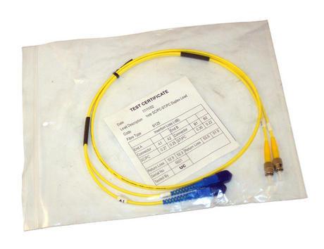 New Generic Yellow 1m SC-ST 9/125 Duplex Fibre Patch Cable