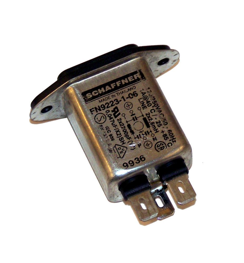Schaffner FN9223-1-06 IEC C14 1A Line Filter AC Inlet