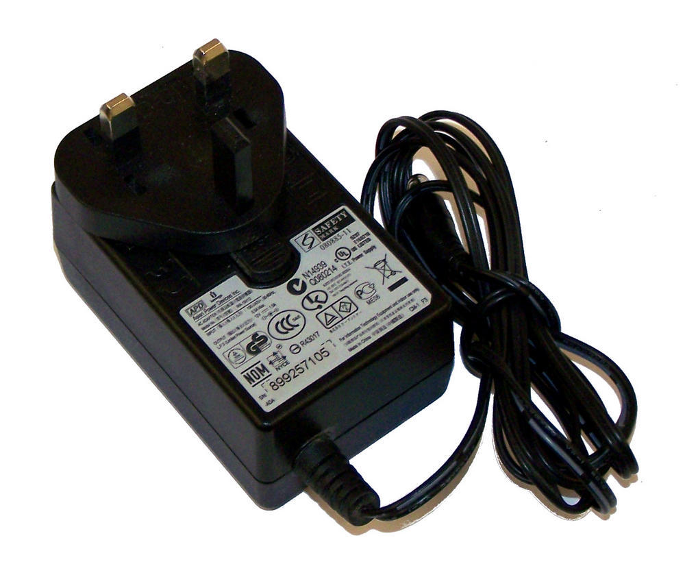 APD WA-18H12 12VDC 1.5A UK AC Adapter with Barrel Connector Thumbnail 1