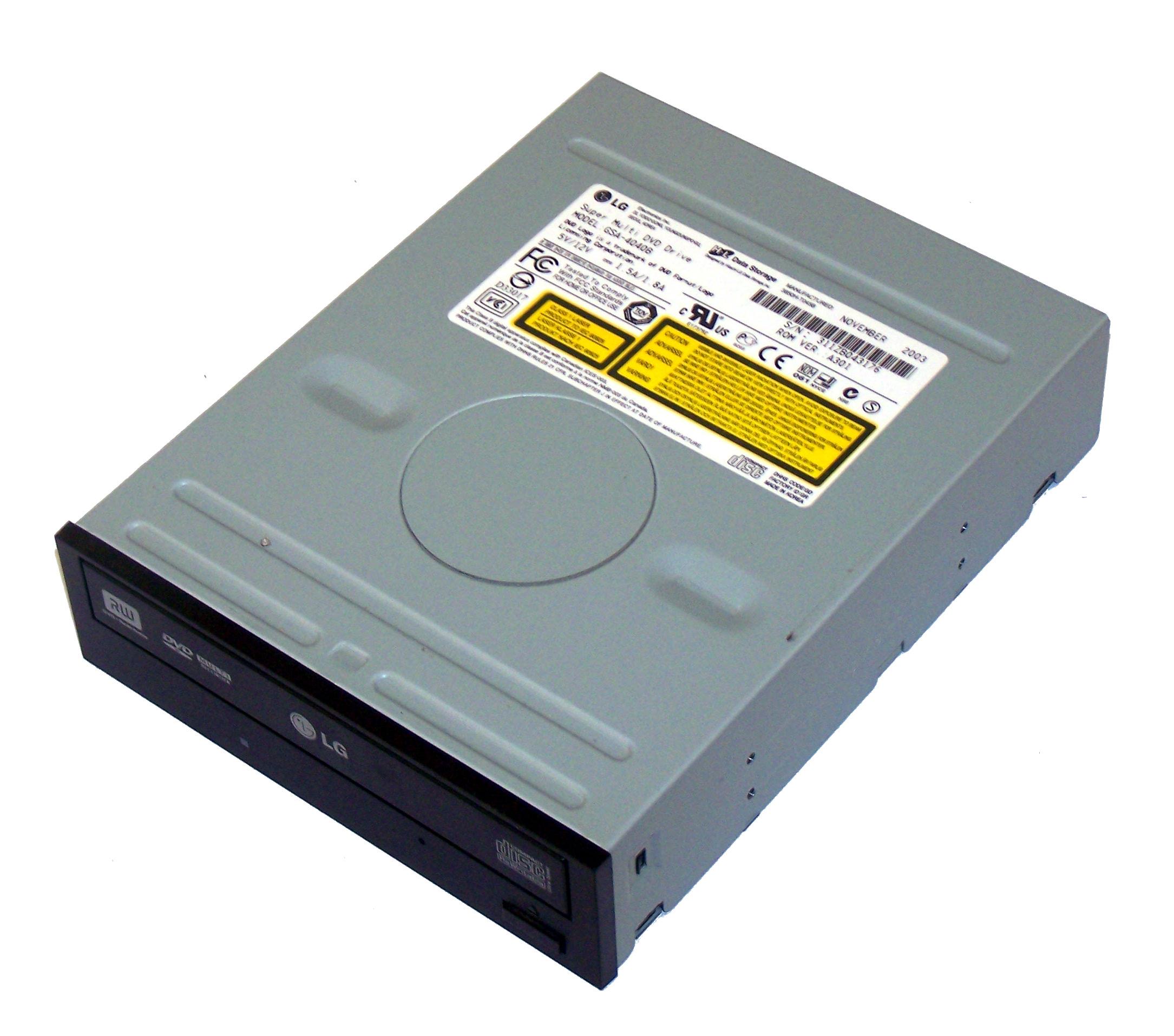 HL Data LG GSA-4040B Black Bezel ATA H/H DVD-RW Super Multi Drive Thumbnail 1
