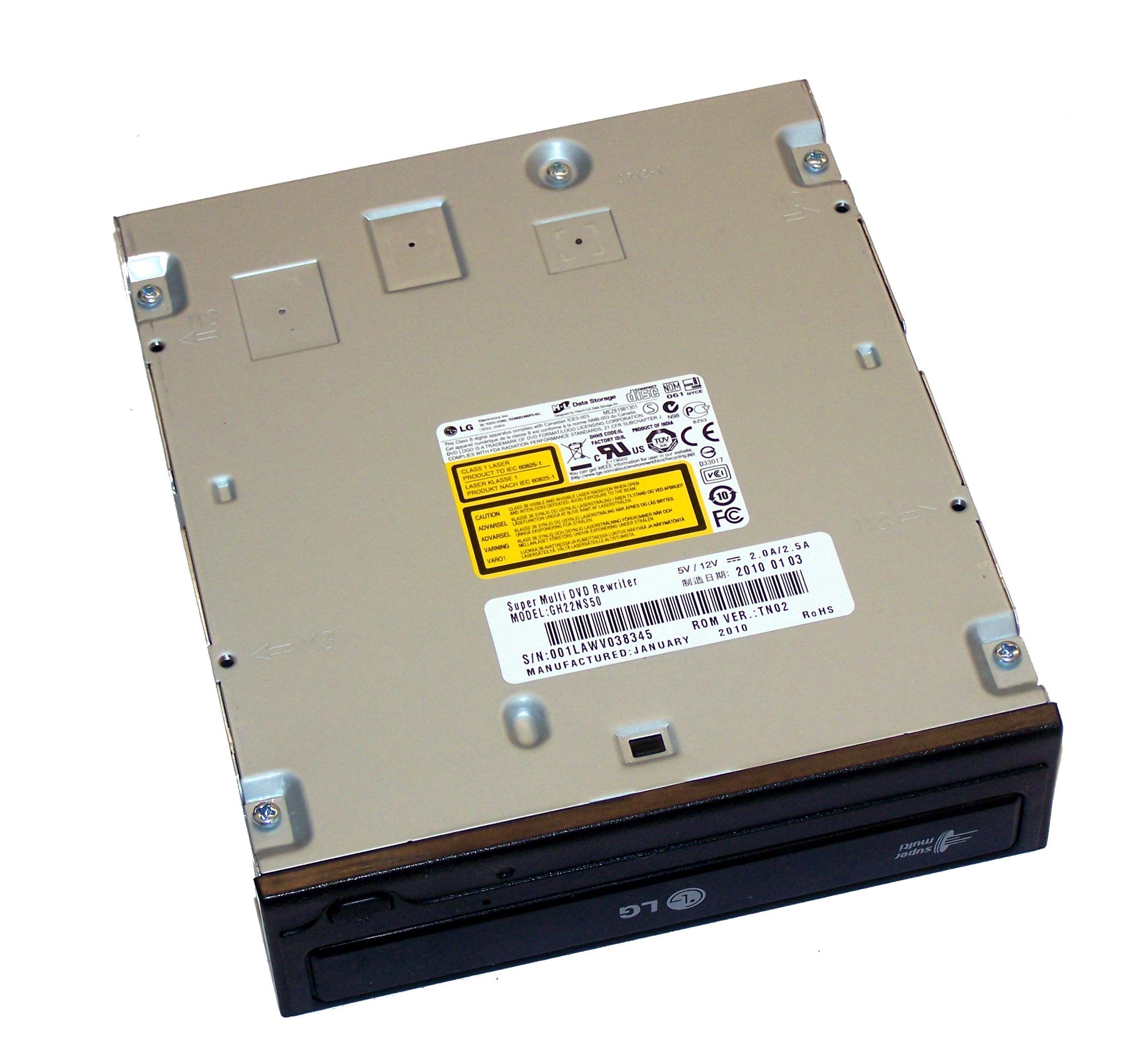 HL Data GH22NS50 SATA H/H DVD-RW Recorder | Black Bezel Thumbnail 1