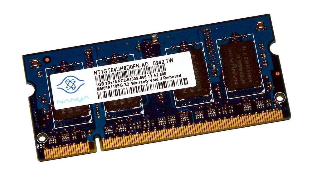Nanya NT1GT64UH8D0FN-AD (1GB DDR2 PC2-6400S 800MHz SO DIMM 200-pin) RAM Module