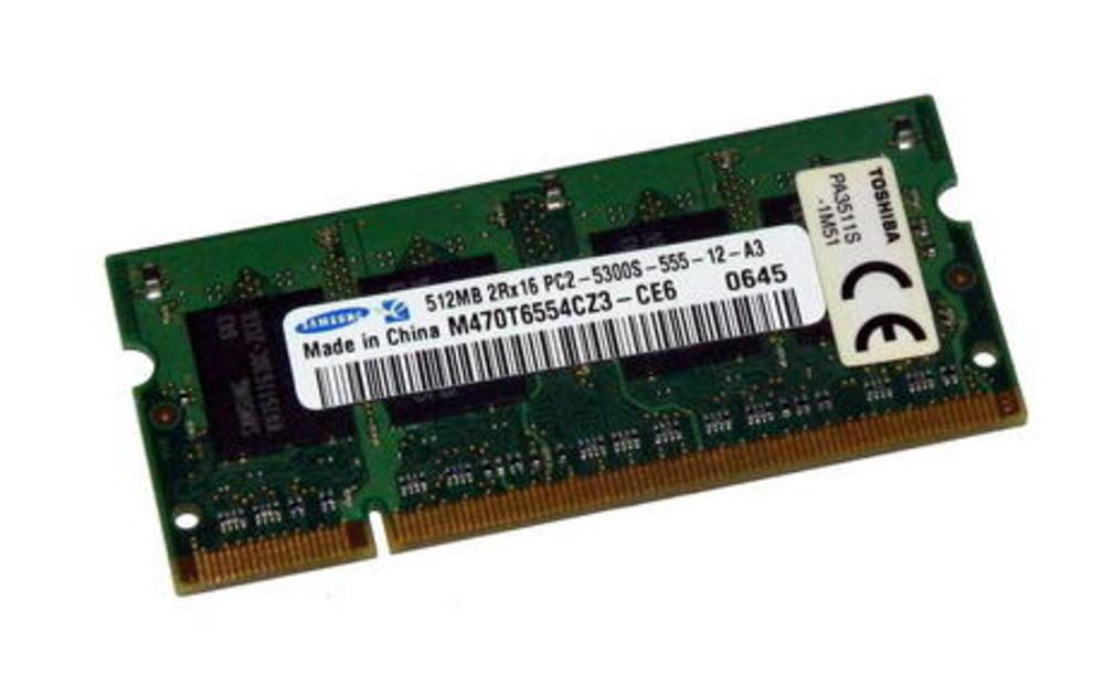 Toshiba PA3511S-1M51 (512MB DDR2 PC2-5300S 667MHz SO DIMM 200p) M470T6554CZ3-CE6