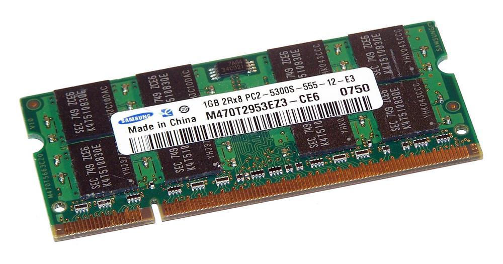 Samsung M470T2953EZ3-CE6 (1GB PC2-5300S DDR2 667MHz SO DIMM 200-pin) Memory