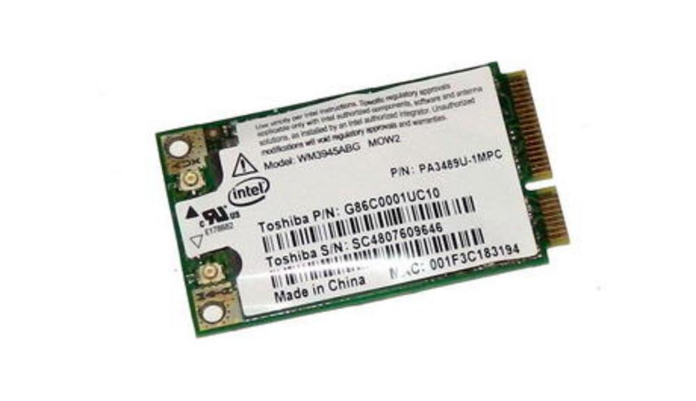 Toshiba G86C0001UC10 WLAN Mini PCIe Card Intel WM3945ABG WiFi 54Mbps 802.11a/b/g Thumbnail 1