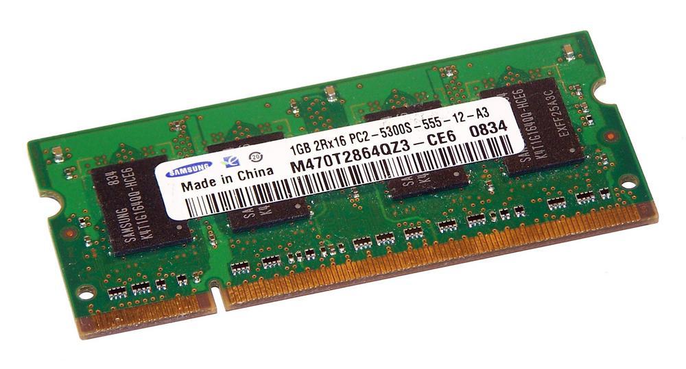 Samsung M470T2864QZ3-CE6 (1GB DDR2 PC2-5300S 667MHz SO DIMM 200-pin) Memory