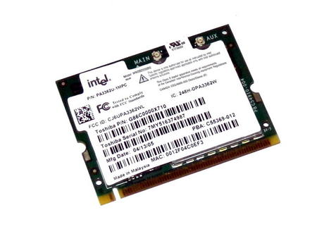 Toshiba G86C0000X710 WLAN Mini PCI Card Intel WM3B2200BG WiFi 54Mbps 802.11bg Thumbnail 1