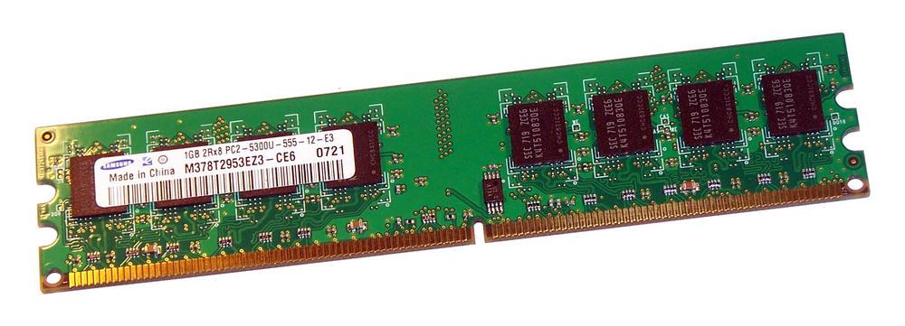 Samsung M378T2953EZ3-CE6 (1GB DDR2 PC2-5300U 667MHz DIMM 240-pin) Memory