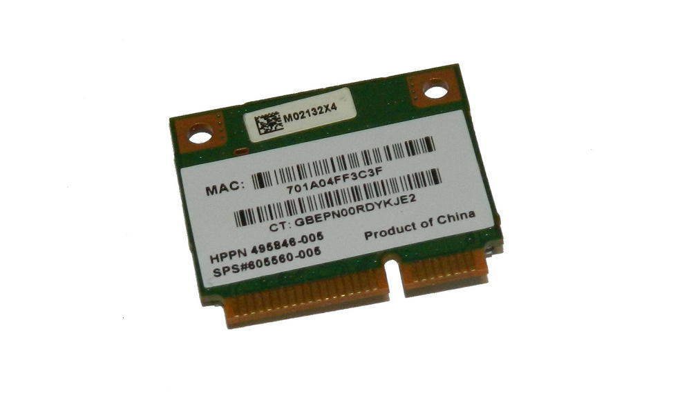 HP 495846-005 WLAN Mini PCIexpress Card ATH-AR5B95 802.11b/g/n | SPS 605560-005