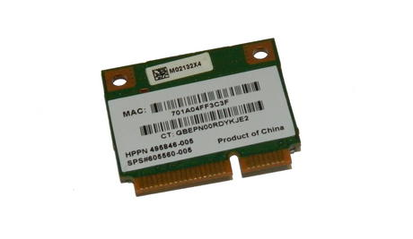 HP 495846-005 WLAN Mini PCIexpress Card ATH-AR5B95 802.11b/g/n | SPS 605560-005 Thumbnail 1