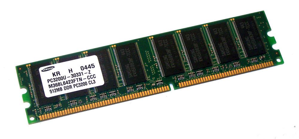 Samsung M368L6423FTN-CCC (512MB DDR PC3200U 400MHz DIMM 184-pin) Memory Module