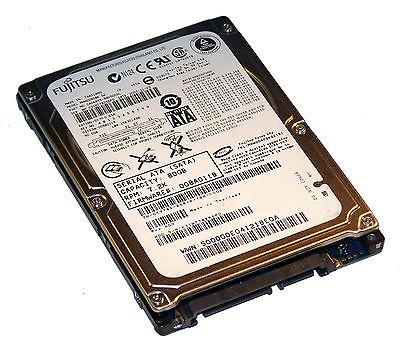 """Dell TY785 Fujitsu MHW2080BK G2 80GB 7.2K 2.5"""" SATA HDD f/w 0EFEDA-008A011B A=1"""