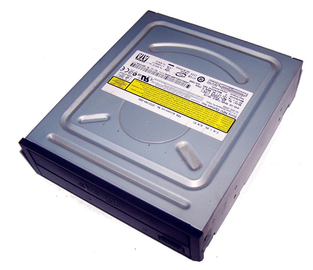 Sony NEC Optiarc AD-7200S-FS SATA H/H DVD-RW DVD Recorder Drive | Black Bezel