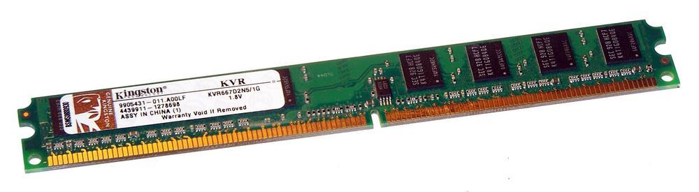 Kingston KVR667D2N5/1G LP (1GB DDR2 667MHz DIMM 240-pin) 8C Low Profile Memory