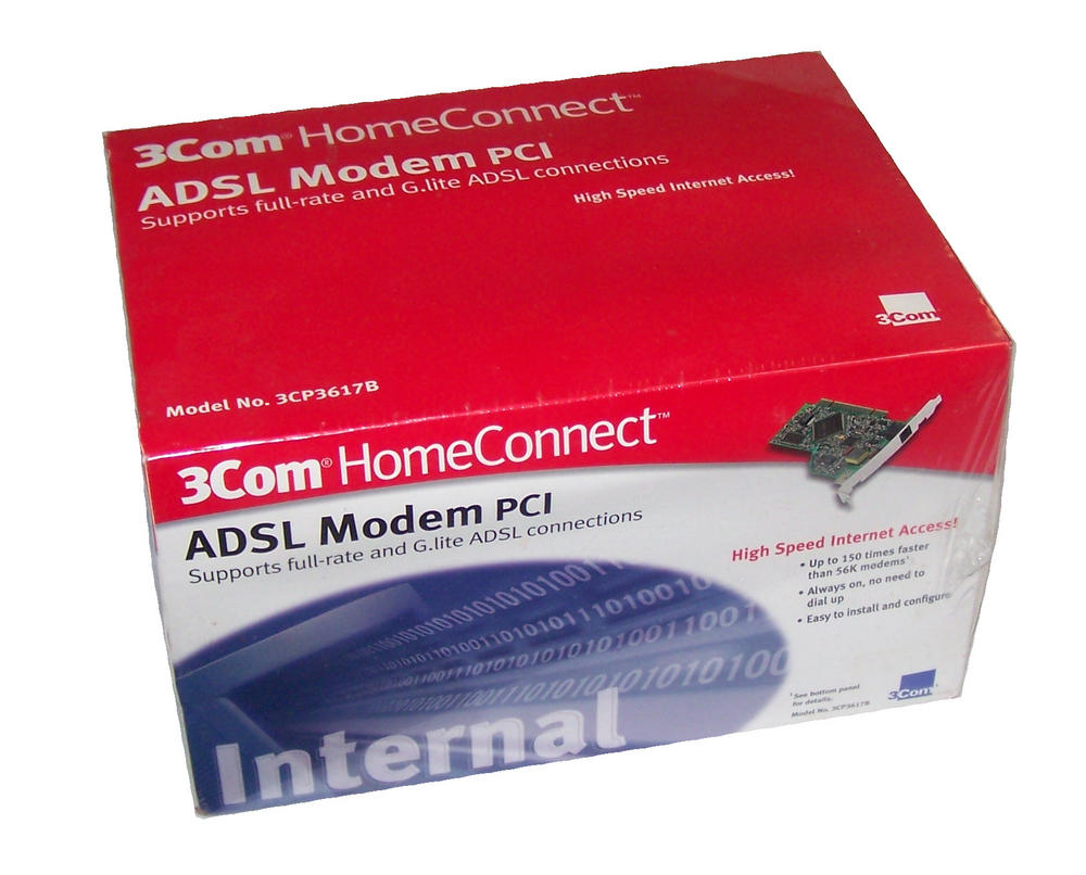 New 3Com 3CP3617B PCI ADSL Modem Card