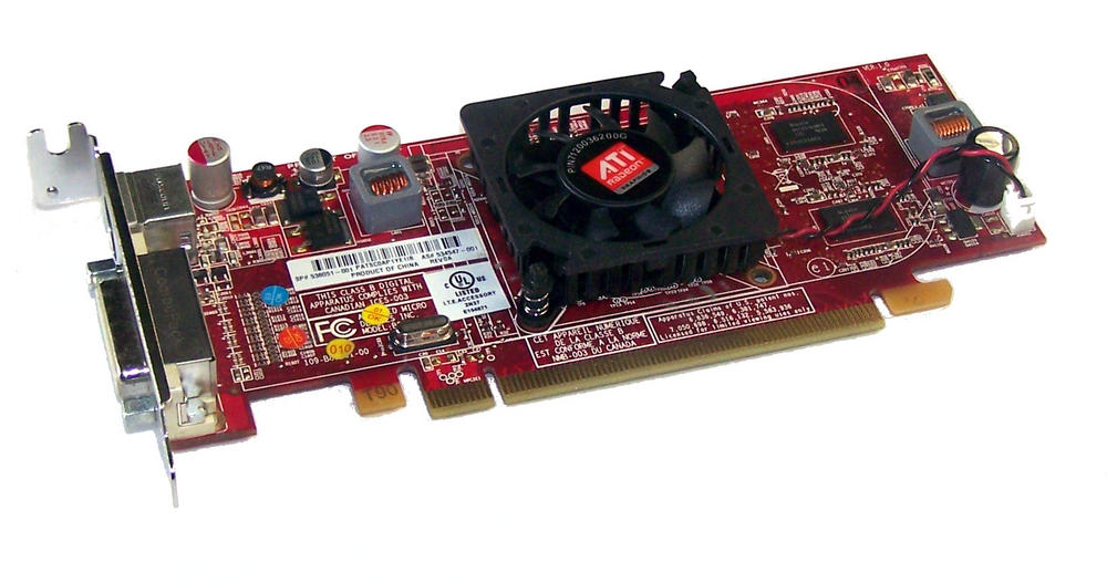HP 534547-001 Radeon HD4550 256MB PCIe Graphics Card, LP Bracket SPS 538041-001