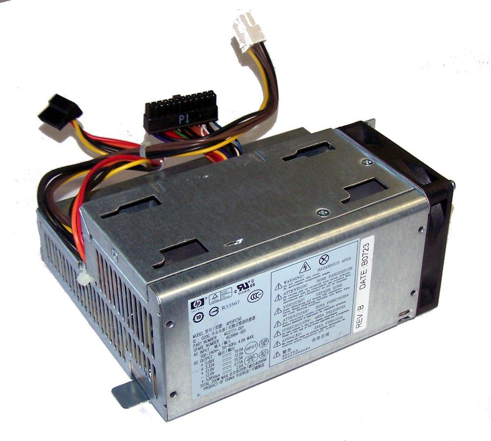 HP 403777-001 dc7700 USDT Ultra Slim 200W Power Supply | SPS 403984-001 API5PC50