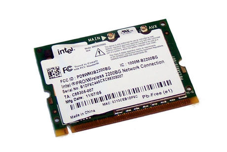 Intel C88305-007 WLAN Mini PCI Card Intel WM3B2200BG WiFi 54Mbps 802.11bg Thumbnail 1