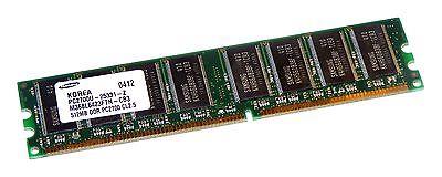 Samsung M368L6423FTN-CB3 (512MB DDR PC2700U 333MHz DIMM 184-pin) Memory Module