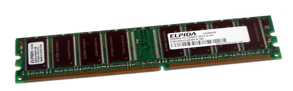 Elpida EBD25UC8AMFA-5B (256MB DDR PC3200U 400MHz DIMM 184-pin) Memory Module