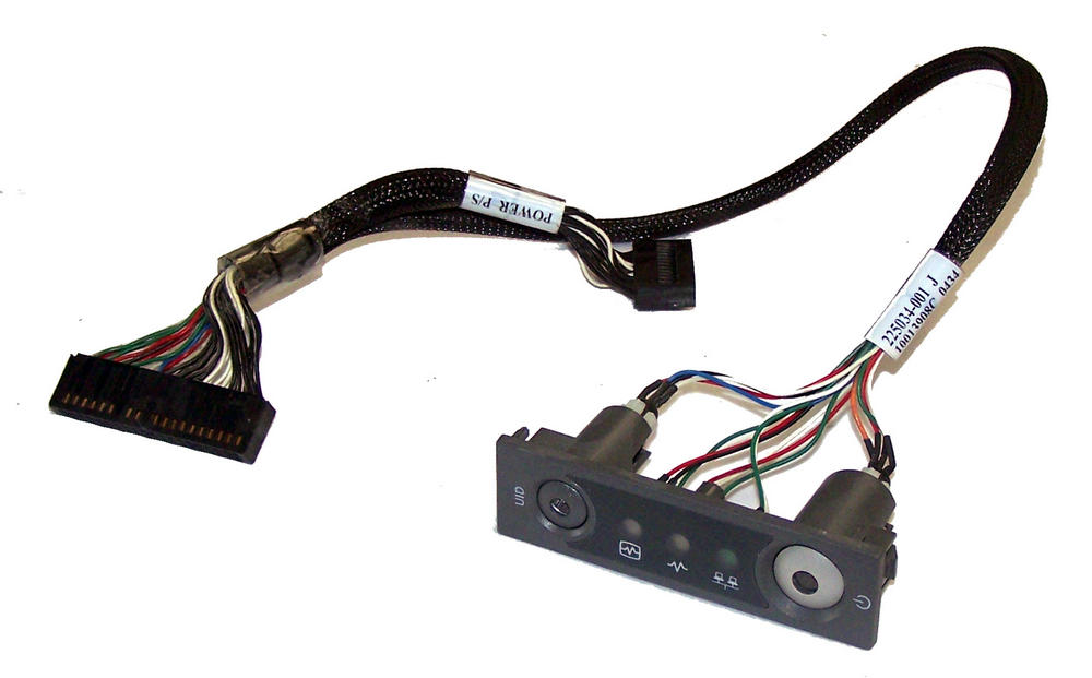 HP 225034-001 ProLiant ML370 G2 G3 Power Switch Assembly