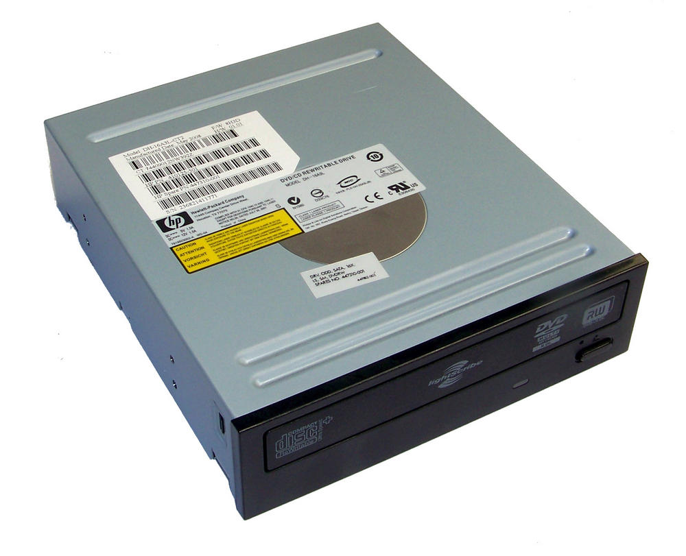 HP 410125-501 Black Bezel SATA H/H DVD-RW D/L Drive DH-16A3L | SPS 447310-001