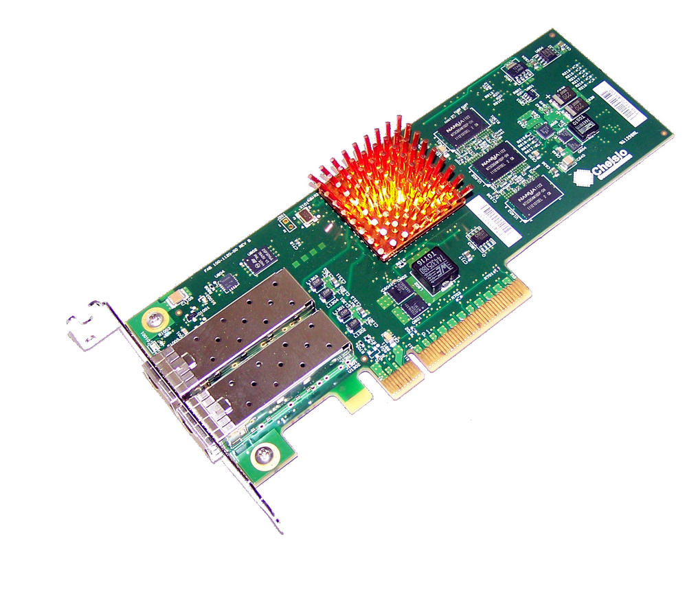 Chelsio 110-1120-40 PCIexpress 8x Dual port 10Gbps 2xSFP Network Card | Low Prof