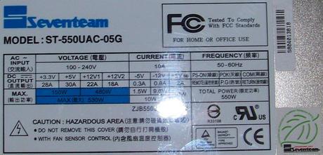 SevenTeam ST-550UAC-05G 550W 2U Power Supply Thumbnail 2