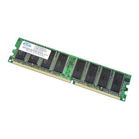 Team TVDR512M400C25 (512MB DDR PC3200U 400MHz DIMM 184-pin) Memory Module