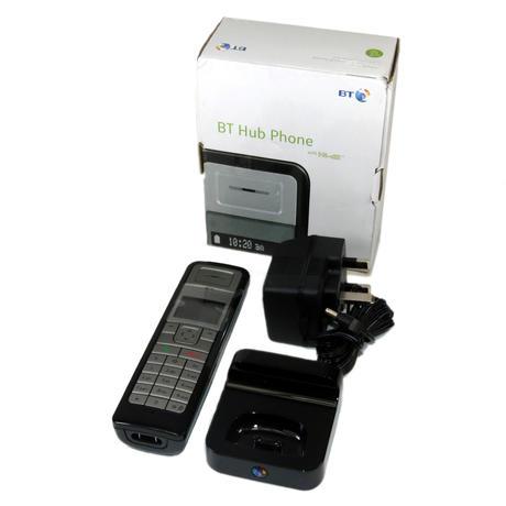 BT 039025 Hub Phone 1020 With AC Adapter Black