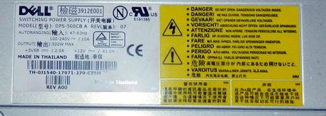 Dell J1540 PowerEdge 2650 500W Redundant Power Supply | 0J1540 DPS-500CB A Thumbnail 2