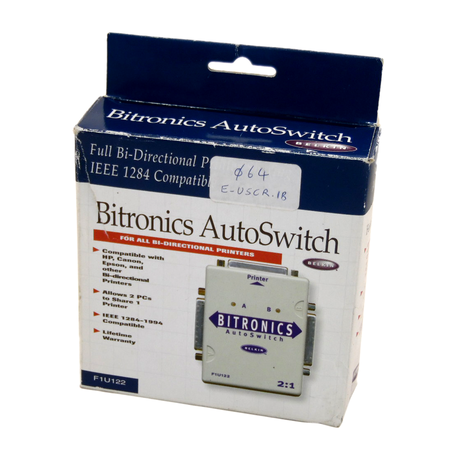 Belkin F1U122 Bitronics Full Bi-Directional AutoSwitch