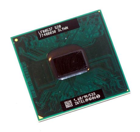 Intel LF80537NE0251M Celeron Mobile 520 1.60GHz Socket P Processor SL9WN