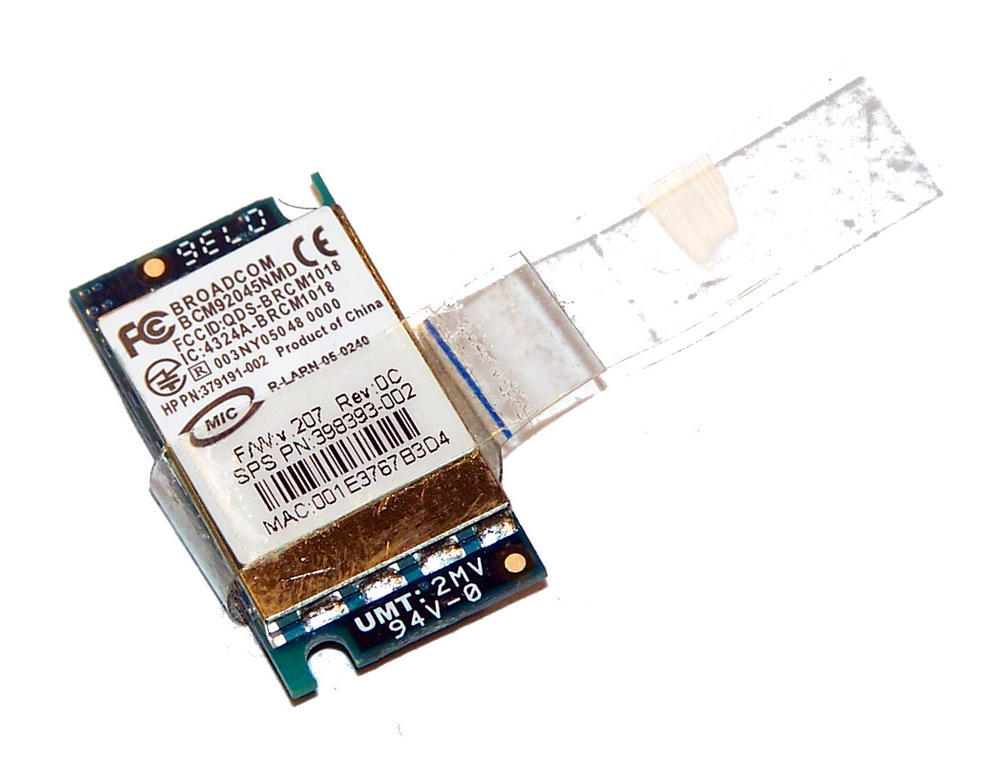 HP 379191-002 EliteBook 8730w Broadcom Bluetooth Module | SPS 398393-002